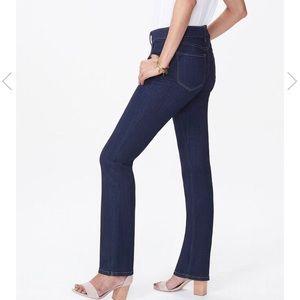 NYDJ Marilyn straight jean dark blue size 00P